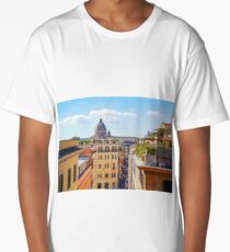 ROME the Streets:  Rooftop View of Rome, Italy #art #decor #photography #rome #italy #myaspiringsoulfullife Long T-Shirt