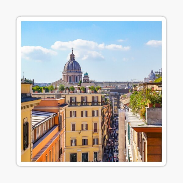 ROME the Streets:  Rooftop View of Rome, Italy #art #decor #photography #rome #italy #myaspiringsoulfullife Sticker