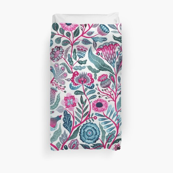 Endlessly growing - pink and turquoise  Duvet Cover