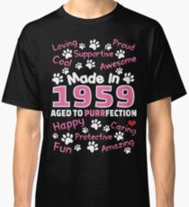 Made In 1959 Aged To Purrfection - Birthday Shirt For Cat Lovers Classic T-Shirt
