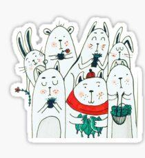 Seven little friends Sticker
