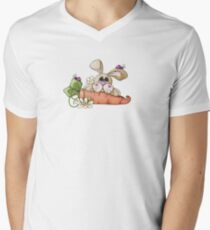 Bugs and Bunny Men's V-Neck T-Shirt