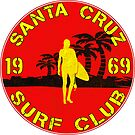 Santa Cruz Surf Club California Vintage Surfing by MyHandmadeSigns