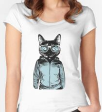 FUR ANTIDEPRESSANT - Cool Cat 2018 Women's Fitted Scoop T-Shirt