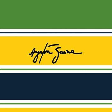 Ayrton Senna Helmet by alissarmanc
