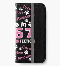 Made In 1967 Aged To Purrfection - Birthday Shirt For Cat Lovers iPhone Wallet/Case/Skin