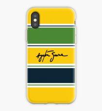 Vinilo o funda para iPhone Casco Ayrton Senna