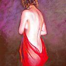 'Life Study - Lady in Red' by Lynda Robinson