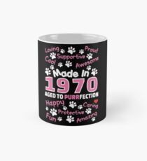Made In 1970 Aged To Purrfection - Birthday Shirt For Cat Lovers Mug