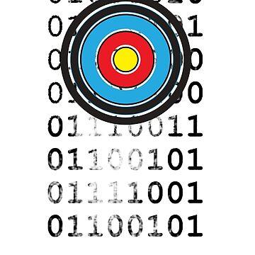 Bullseye archery target design by veerapfaffli