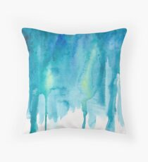 Abstract Watercolor Painting Throw Pillow