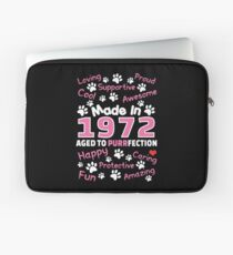 Made In 1972 Aged To Purrfection - Birthday Shirt For Cat Lovers Laptop Sleeve