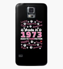 Made In 1973 Aged To Purrfection - Birthday Shirt For Cat Lovers Case/Skin for Samsung Galaxy