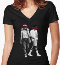 Maniac Dark Comedy Stlye Women's Fitted V-Neck T-Shirt