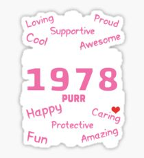 Made In 1978 Aged To Purrfection - Birthday Shirt For Cat Lovers Sticker