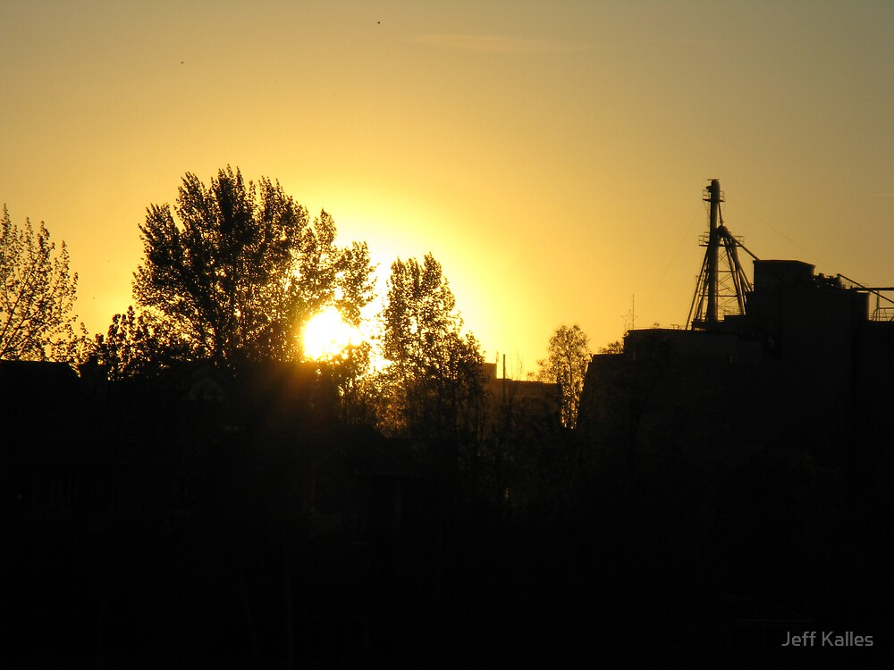 Sunset over Spokane by Jeff Kalles