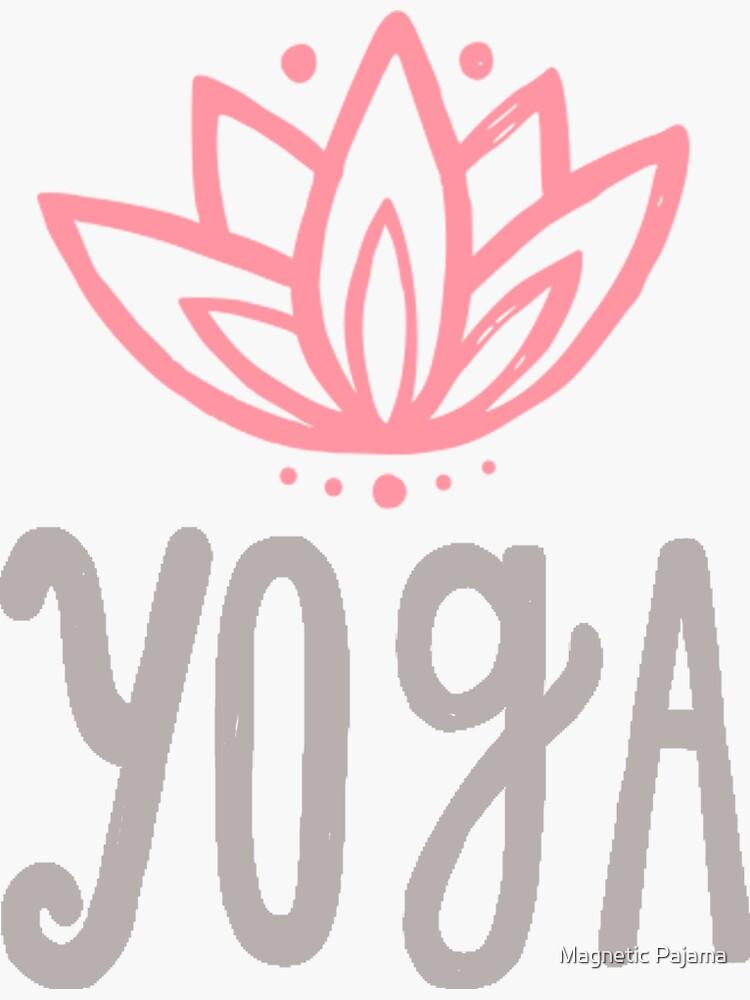 Yoga Lotus Flower by MagneticMama