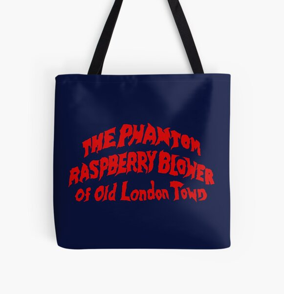 THE PHANTOM RASPBERRY BLOWER OF OLD LONDON TOWN All Over Print Tote Bag