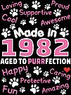 Made In 1982 Aged To Purrfection - Birthday Shirt For Cat Lovers by wantneedlove