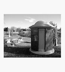 Tardis Tomb Photographic Print