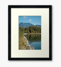 Skyhomish River in Washington State Framed Print