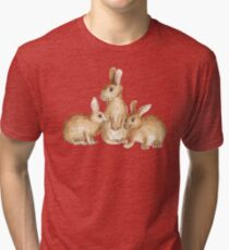 Bunny Friends Tri-blend T-Shirt