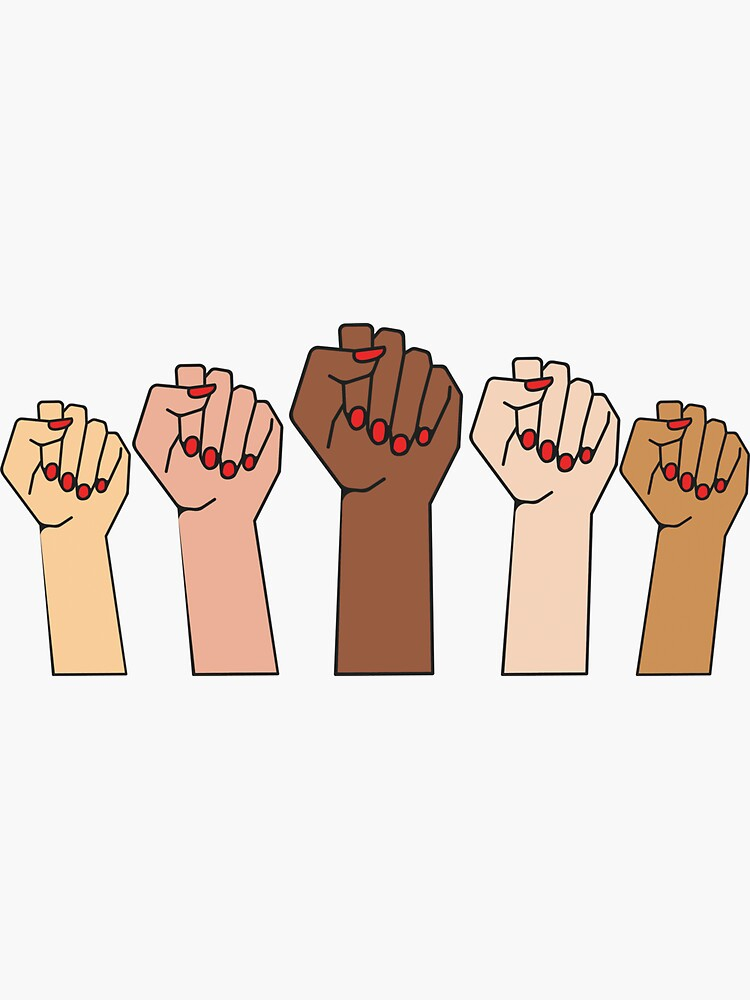 FISTS UP - POWER TO THE GIRLS - Black Lives Matter by mpoweredwomen