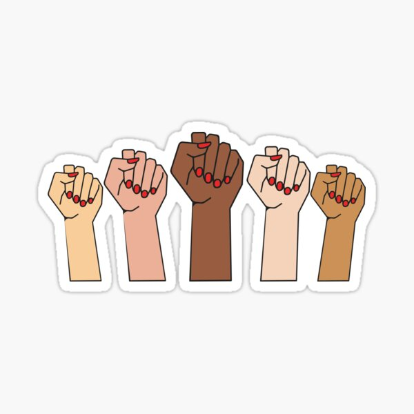 FISTS UP - POWER TO THE GIRLS - Black Lives Matter Sticker