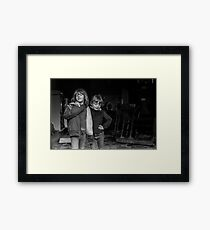 Children Burnt Laundry - Blackburn a Town and Its People Framed Print