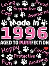 Made In 1996 Aged To Purrfection - Birthday Shirt For Cat Lovers by wantneedlove