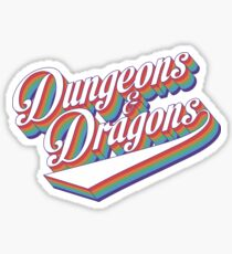 Retro D&D Sticker