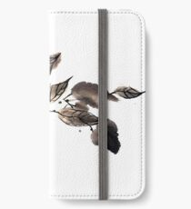 Autumn leaves sumi e iPhone Wallet/Case/Skin