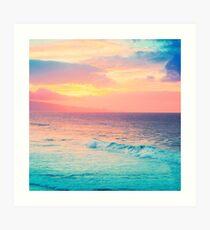 Hookipa Surf Sunset Art Print