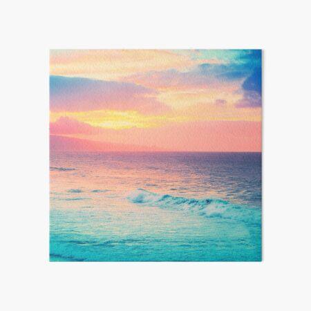 Hookipa Surf Sunset Art Board Print