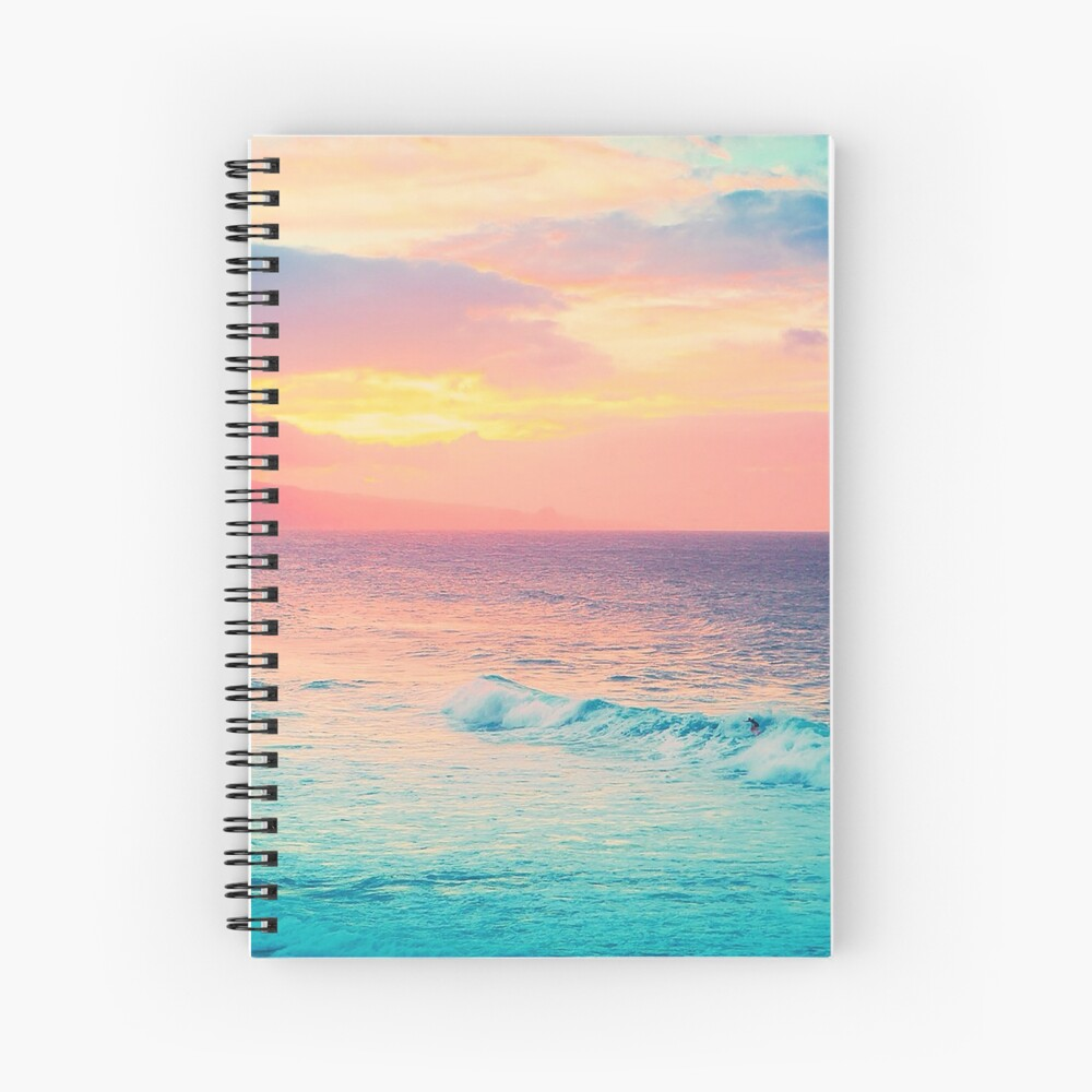 Hookipa Surf Sunset Spiral Notebook