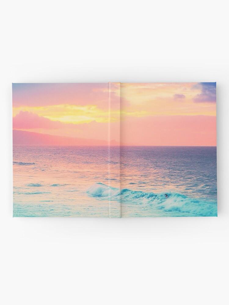 Alternative Ansicht von Hookipa Surf Sonnenuntergang Notizbuch