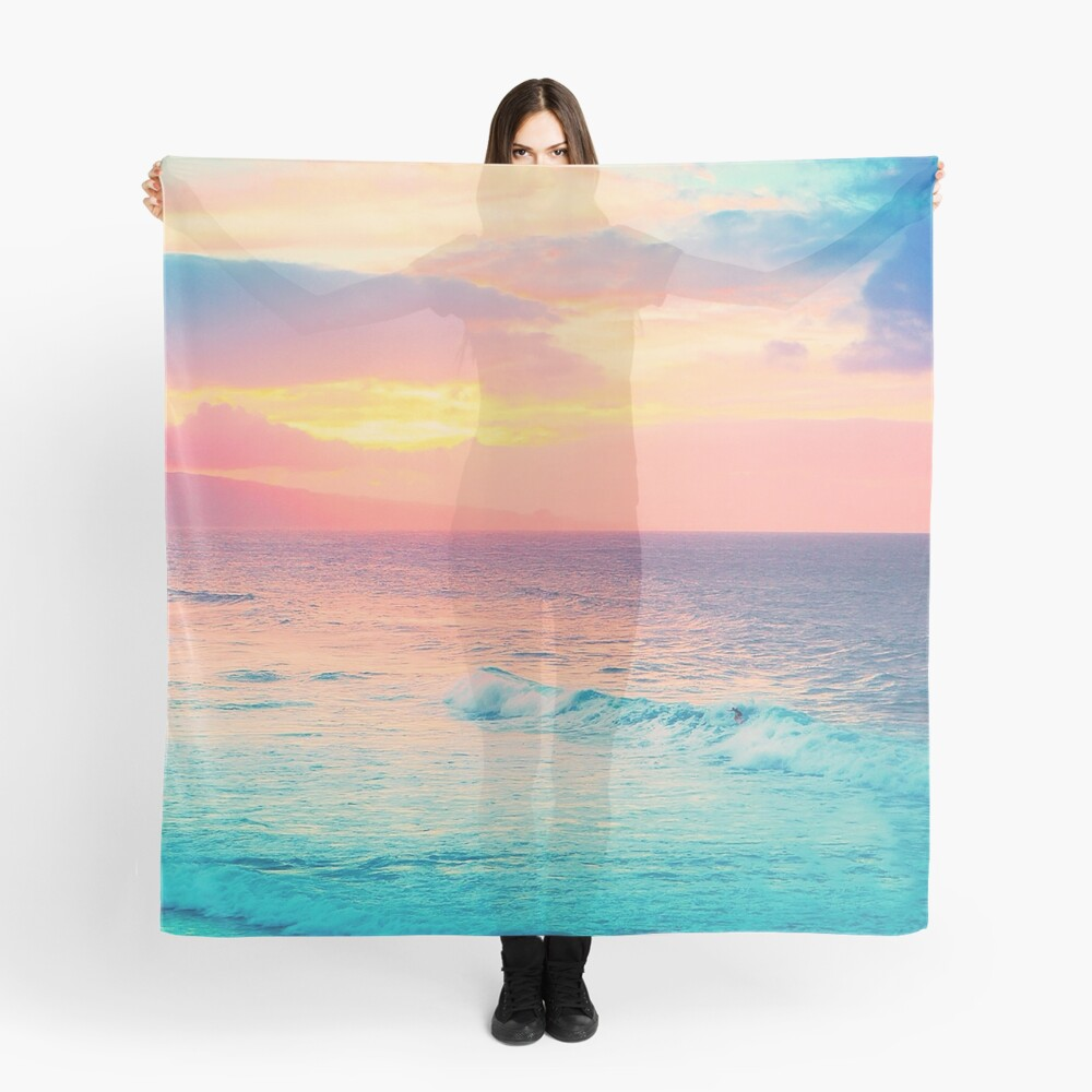 Hookipa Surf Sunset Scarf