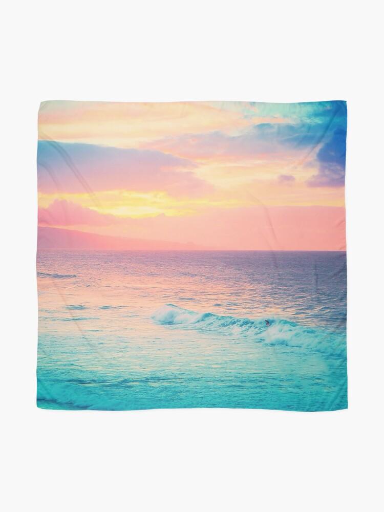 Alternate view of Hookipa Surf Sunset Scarf