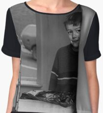 Boy in Arsoned Laundry - Blackburn a Town and Its People  Chiffon Top