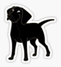 labrador retriever black cartoon Sticker