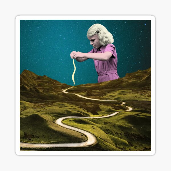 The long and winding road Sticker