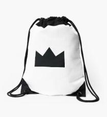 Black Crown Drawstring Bag