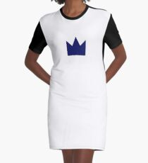 Navy Crown Graphic T-Shirt Dress