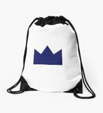 Navy Crown Drawstring Bag