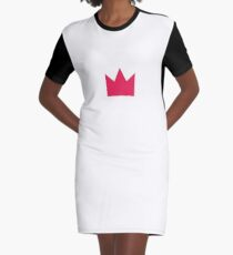 Pink Crown Graphic T-Shirt Dress