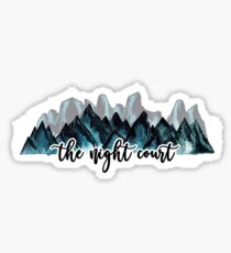 The Night Court Watercolor Mountains Sticker