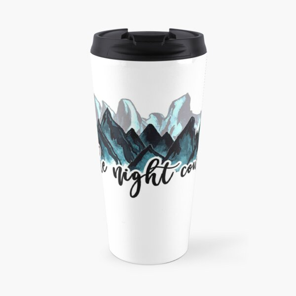 The Night Court Watercolor Mountains Travel Mug