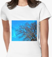 Beauty of Trees in Winter Women's Fitted T-Shirt