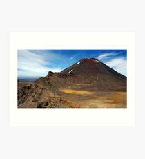 Mt Ngauruhoe Art Print