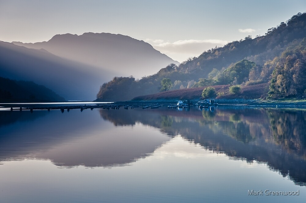 The Boat and The Jetty by Mark Greenwood